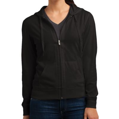 Women's Fitted Jersey Full Zip Hoodie Thumbnail