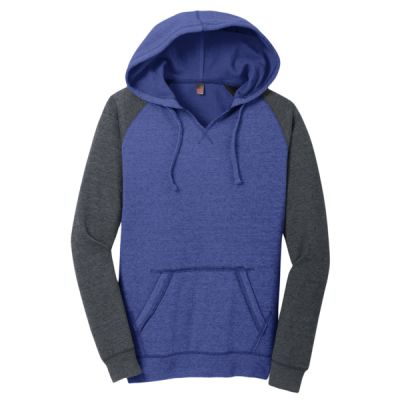 Women's Lightweight Fleece Raglan Hoodie Thumbnail